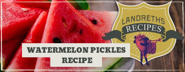 Watermelon Pickles Recipe